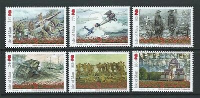 Isle Of Man 2016 Battle Of The Somme Set Of 6 Mounted Mint.