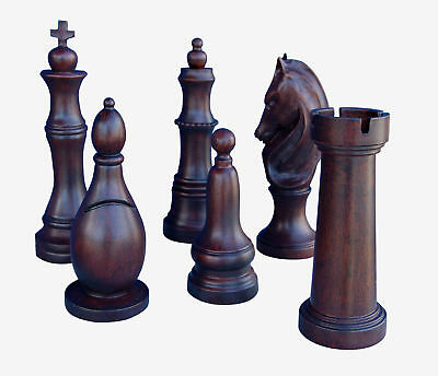 Hickory Manor House 6 Piece Chess Set
