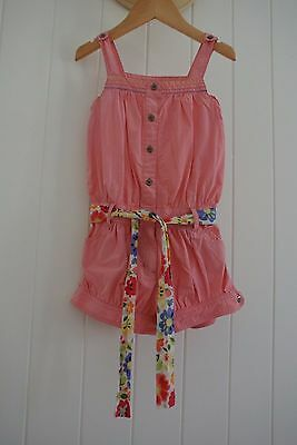 (preloved kids) Milkshake Size 4 Girls Playsuit  Party Summer Dress Pink w Belt