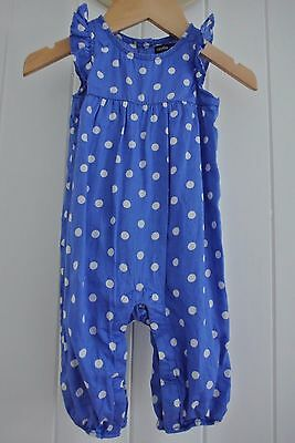(preloved kids) Baby Gap Size 3 - 6 m Girls Playsuit Party Summer Dress Polka