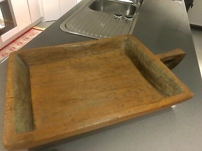 Antique THAI Teak Wood  rice Dryer Bowl