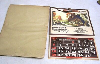 Vintage 1936 Advertising Calendar F.H. Gates & Co Funeral Directors Edmeston NY
