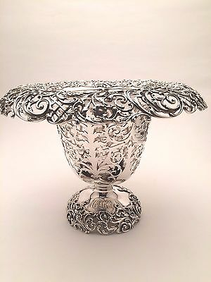 STUNNING Theodore B Starr Sterling Silver Wine Cooler with Intricate Design