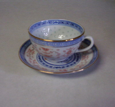 Porcelain Chinese Coffee Cup & Saucer