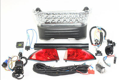 Club Car Precedent Led Deluxe Light Kit Street Legal Turn Signals 2008.5 And Up