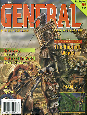GENERAL Vol.32 No.2 Avalon Hill, The Ancient World, Hannibal, Circus Maximus,...