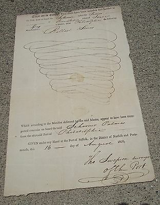 Authentic Slave Ship Manuscript Manifest Dated 1808 FREE Delivery USA