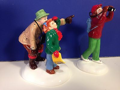 Dept 56 Snow Village FINDING THE BIRD'S SONG w/ box Combine Shipping!