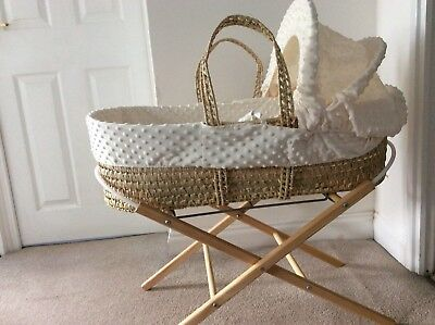 Clare de lune moses basket with stand