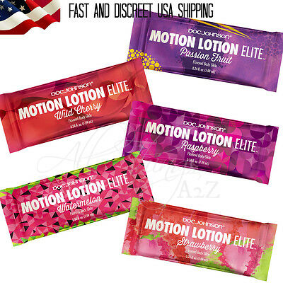 Doc Johnson Motion Lotion Flavored Water Based Lubricant Personal Edible Lube