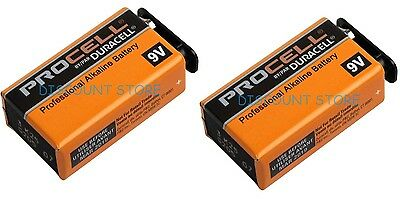 2 X Duracell Industrial 9V PP3 MN1604 Block Alkaline Batteries Replaces Procell