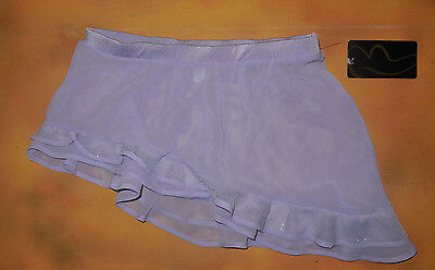 NWT Bloch Dance Lilac Skirt Asymmertrical Frill Hem Girls Med Child 8/10 CR5170