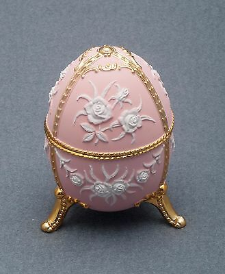 Music Box made by Splendid Music Box  - NEW - Pink Colored Egg with Flowers
