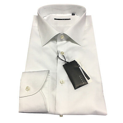 XACUS men's shirts white 51165.001 100% cotton