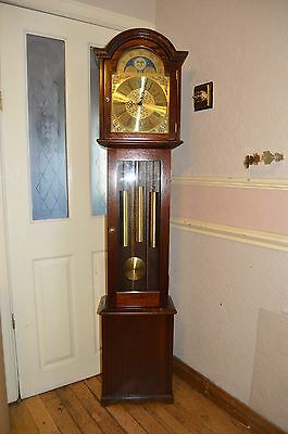 A Gorgeous Fenclocks Three Tune Moon Roller Grandfather Clock  * Re Oiled *