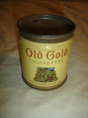 "Antique Old Gold 50 Cigarette Tin  ""The Treasure of them All"" 50. OLD GOLD. 9660"