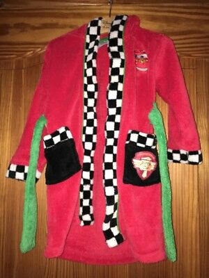 Boys Disney Cars Lightning McQueen Hooded Dressing Gown Robe Age 18-24 Months