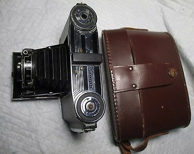 Vintage Wirgin Folding Bellows Camera & Case Anastigmat 75 mm f 4.5 1930's or so