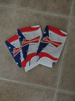 Lot of 3 Budweiser Can Coozie