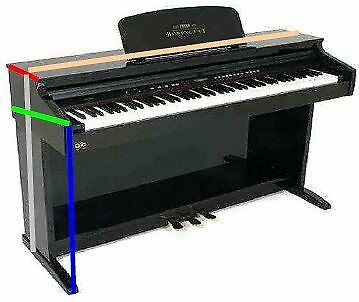 Ortola 6623--001 - Funda piano digital kawai, color negro