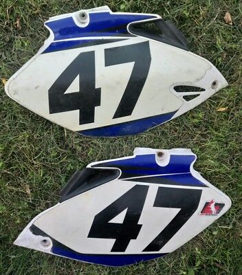 2006 Yamaha YZ250F YZ450F Left & Right Side Covers Plastic Panels