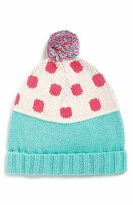 Tucker Tate Dot Knit Hat Infant Girl's 2-4Y Blue/green 2717