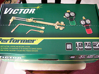 0384-2046 Victor Performer Torch Kit Set With Regulators ESS3 EDGE