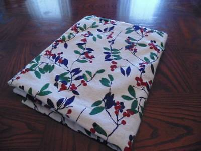 Large tan with berries cotton tablecloth