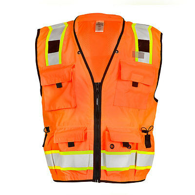 ML Kishigo S5001 Class 2 Orange Professional Surveyors Vest