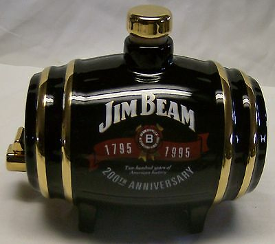 95 Jim Beam 200th/25th Convention Black Barrel Decanter by Wade China of England
