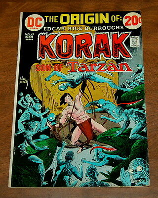 Korak Son Of Tarzan #49 Vg/fn Joe Kubert  Dc Comics Bronze Age 1972