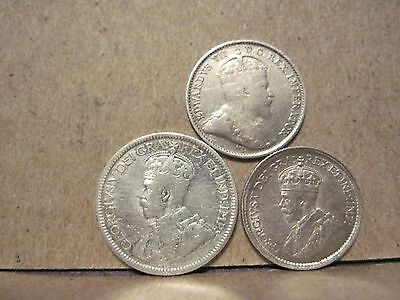 Canada, Five Cents 1909,20, 10 Cents 1928