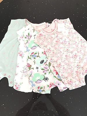 Bnwt Next Pretty Baby Girls Rompers Summer Sleepsuits Pack Holiday Romper 0-3
