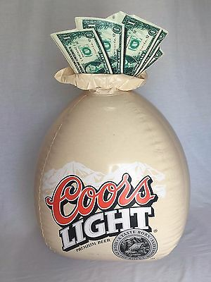 Coors Light Inflatable Money Bag