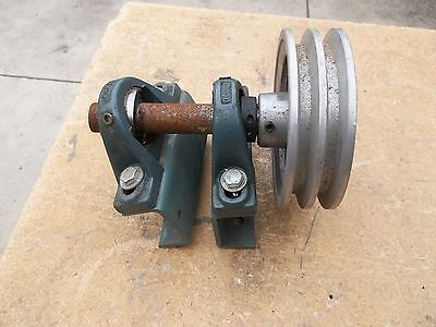Pulleye Spindle And Brackets. 1 Inch Spindle. Dodge