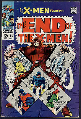 X-Men #46 Very Good - End Of The X-Men! Silver Age Marvel Comics 1968 SA
