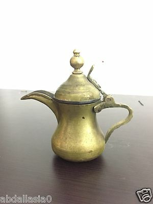 Dallah Coffee Pot  syrian Brass Antique Islamic Arabic Middle coffee Copper