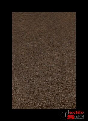 """Vinyl Fabric Faux Leather Chocolate Brown Auto Upholstry Pleather 54"""" By The Yd"""
