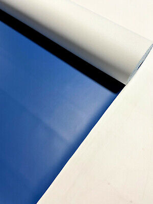 """Vinyl Fabric Faux Leather Royal Blue Car Upholstry Pleather 54"""" W By The Yard"""