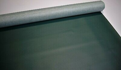 """Dark Green Faux Leather Vinyl Fabric Pleather 5 Yards Car Upholstery 54"""" W"""