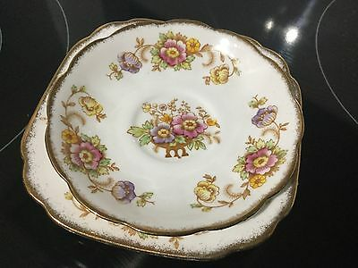 Royal Albert Bone China Side Plate And Saucer  Evesham Patt Excellent Cond.