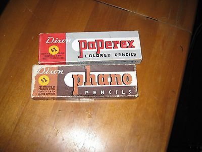 Lot of Dixon Pencils 13 Paperex Red & 5 Phano Glazed Surfaces 5 Black & 1 Brown