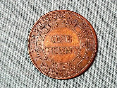 Masonic Penny from Warren, Massachusetts
