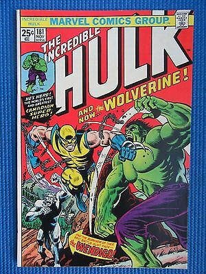 Incredible Hulk # 181  - (Vf/nm) - 1St Full Appearance Of The Wolverine
