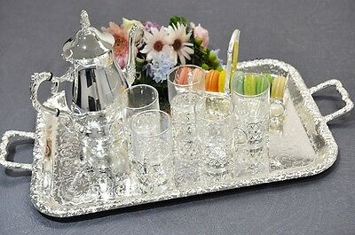 Queen Anne Silver Plated Medium Oblong Tray-Handles