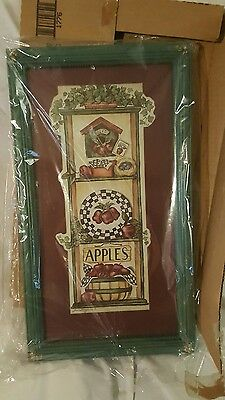 Home Interior Homeco VTG Framed Apple Picture NIB #2T870/1776AC