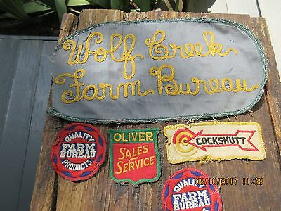 50s Oliver Tractor patch adv. lot