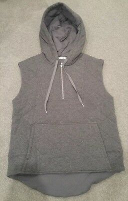 Country Road charcoal hooded vest - size small