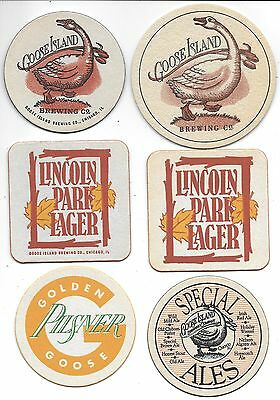 Goose Island 6 Different Chicago Beer Coasters G3
