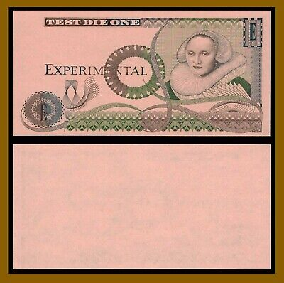 England Experimental Test Note, Test Die One (Uniface) Unc